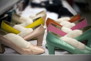 Shoes in storage at the DHCC. Courtesy of the Drexel Historic Costume Collection, Drexel University.