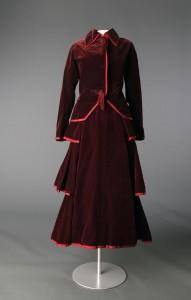 "Doucet Walking suit. Circa 1914, France. Worn by Amanda ""Minnie"" Drexel Fell Cassatt. Gift of Mr. Alexander J. Cassatt. Courtesy of the Drexel Historic Costume Collection, Drexel University."