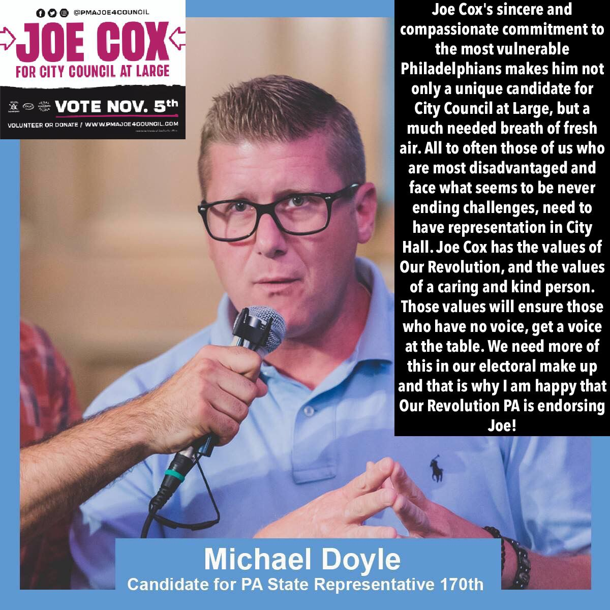 Mike Doyle Endorsement