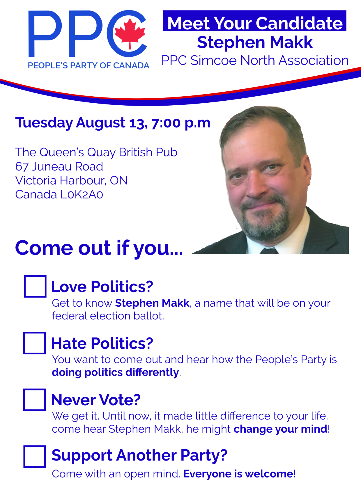 Meet The Candidate Aug 13 Flyer
