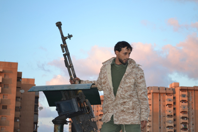 A pro-Haftar fighter in Benghazi