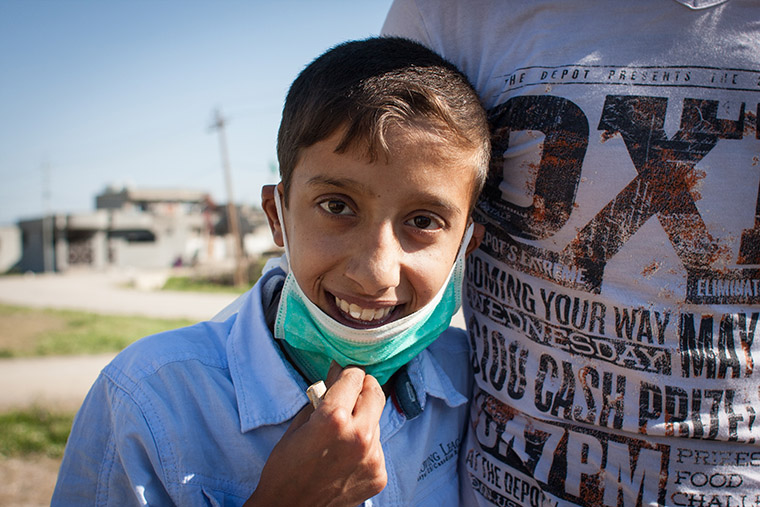 Young Ali arrives home after his lifesaving heart surgery in Nasiriyah, Iraq (via Preemptive Love Coalition)