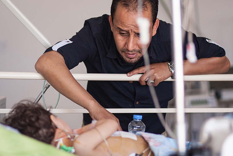 Walla's dad has been so attentive to her in the hospital. It has been so touching to see.
