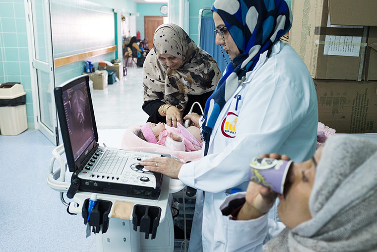Rahma being tested to see if she is a candidate for surgery.