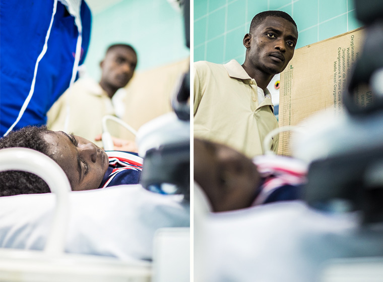 Ramadan's cousin accompanies him when he is admitted to hospital in Libya for heart surgery.