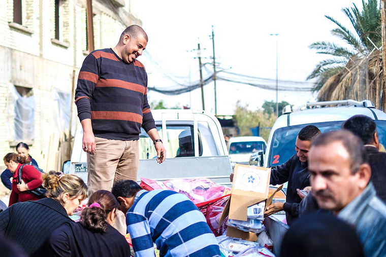 Our partners at Iraq Health Aid Organization give volunteers the chance to do good in their own communities.
