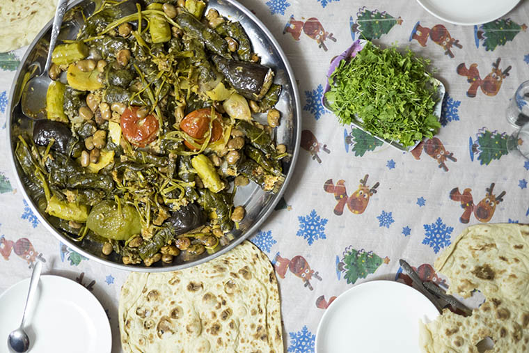 Yaprak is unmolded onto a platter for serving.