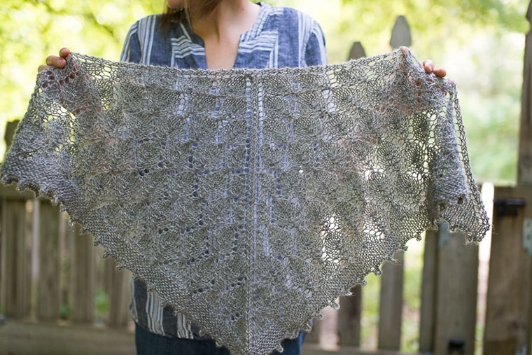 The shawl Ginny Sheller knit that kicked off a generous fundraising campaign for women and children in Iraq.