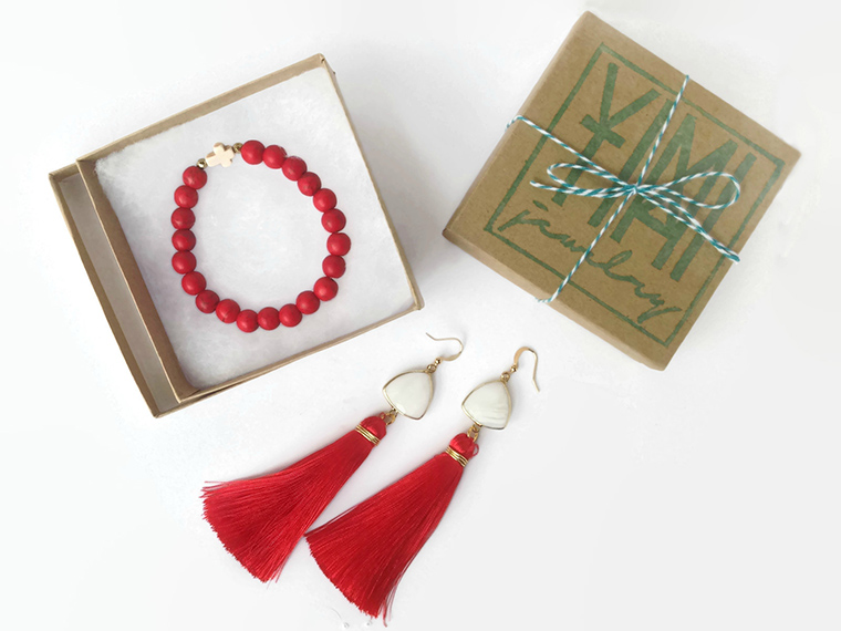 YIMI Jewelry, pieces of the LoveFirst Collection, which will help to fund peacemaking in Iraq.