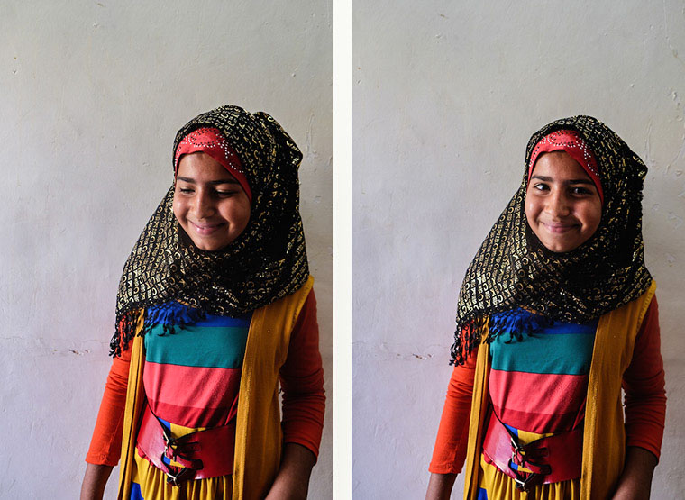 Suham smiles shyly. She spends her days picking through garbage in order to get money for her family, but what she wants to do is learn how to read!