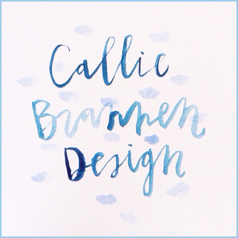Callie Brannen's hand-lettered business name is as beautiful as everything else she makes.