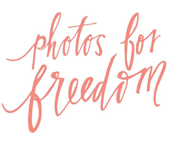 Photos for Freedom logo, designed by Sarah Govea.