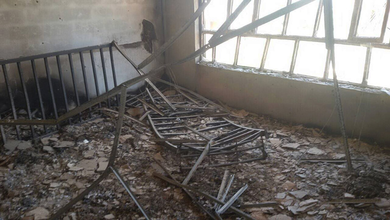 What was once a family home is now a pile of rubble, thanks to ISIS and the fight to free their town from occupation.