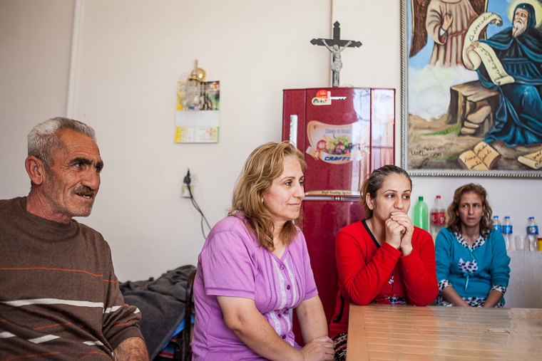 Displaced Assyrians in Iraq, who had to flee their homes because of ISIS, found refuge in a local church.
