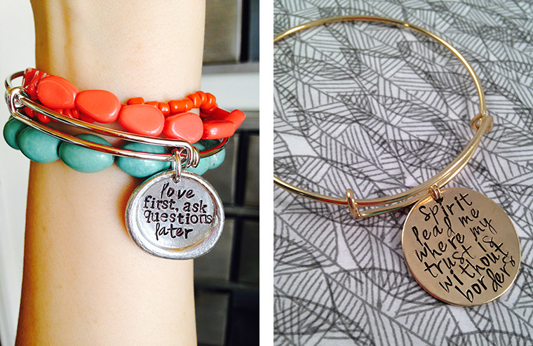 Erin Smeltz designed a bracelet which says \