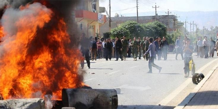 Some protests in Kurdistan have turned violent, with political offices burned and 5 killed.