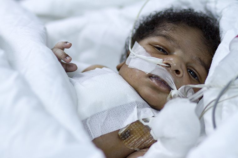 Muhamed was just 11 days old when he got the gift of heart surgery—thanks to you!