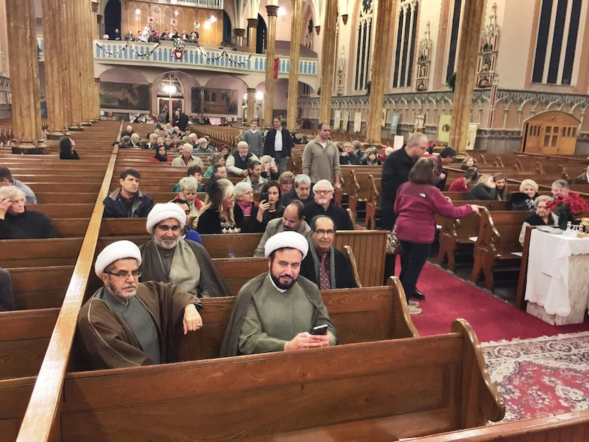 Muslim leaders participate in a Christmas Eve service last month at St. Albertus Church in Detroit
