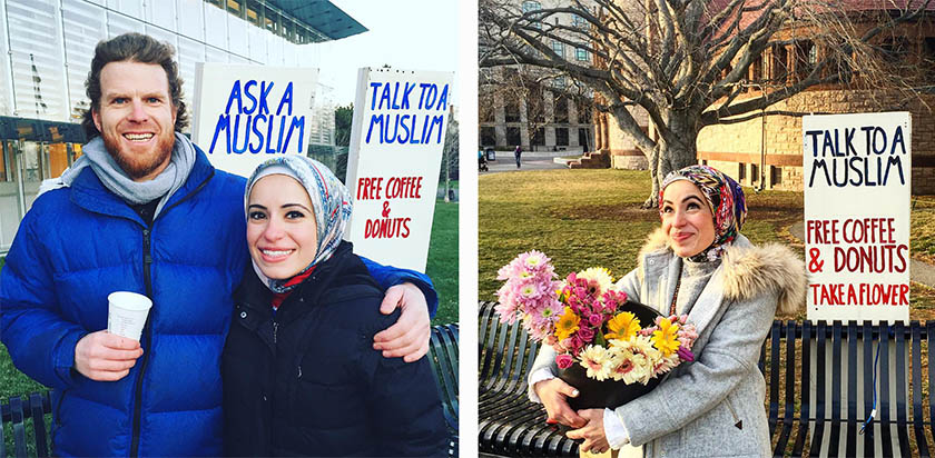 With open hearts and ready smiles, American Muslims Mona Haydar and her husband Sebastian are tearing downs walls of fear and mistrust.