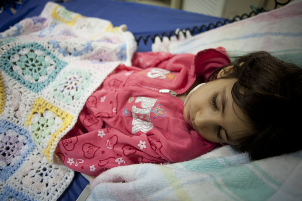 Fatima resting up after her successful heart surgery!
