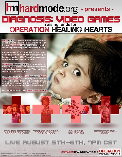 Hardmode Flyer benefiting sick Iraqi kids.