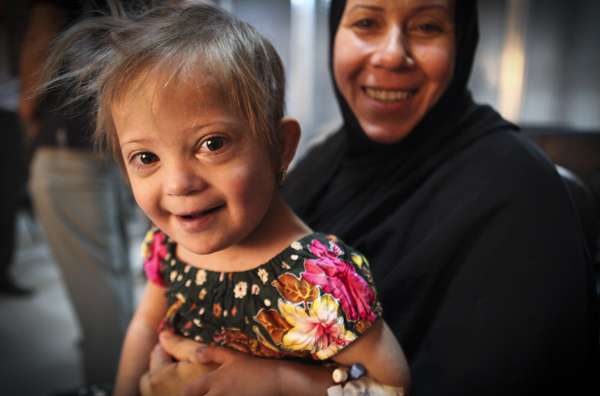 Noor and her mother smile at a second chance at a lifesaving heart surgery.