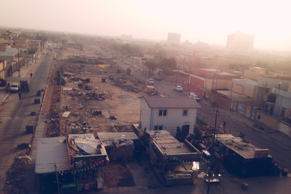 A sunrise photo of Najaf, Iraq at the beginning of Remedy Mission XVI.