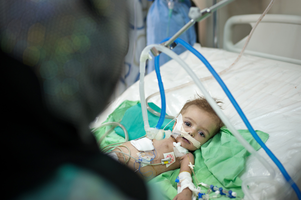 Iman in the hospital after a lifesaving heart surgery