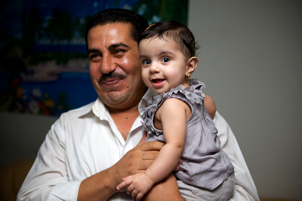 A photo of Sema, the first Iraqi child to receive an Arterial Switch procedure in Najaf, Iraq.