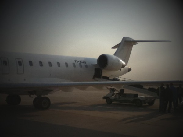 A photo of the plane that took us from Sulaymaniyah to Basra