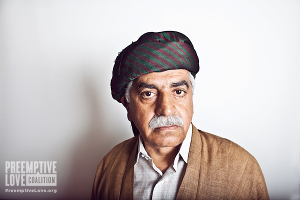 A Kurdish Father in traditional clothing
