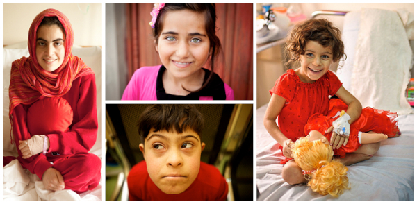 A photo collage showing Hussain, Deeya, Nivar, and Kadeeja - 4 of our most well-known children.