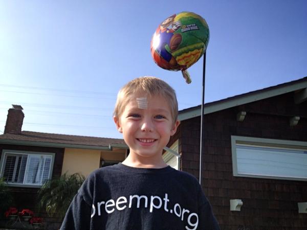 A photo of Jackson at his lifesaving birthday party!