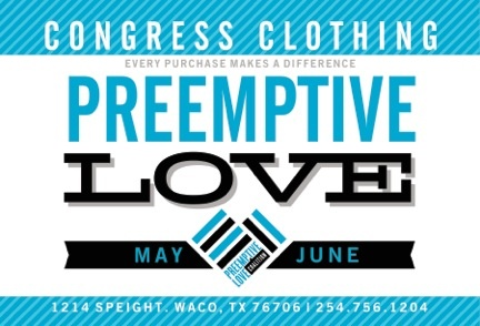 Info about Congress Clothing's PLC fundraiser.