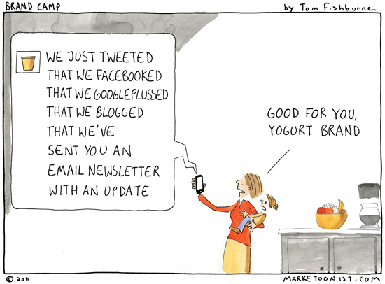 Marketoonist cartoon. See more: http://tomfishburne.com/