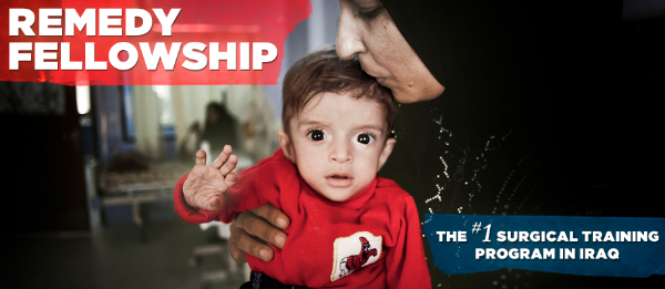 An image of an Iraqi baby and his mother. Families like this will benefit from Remedy Fellowship.
