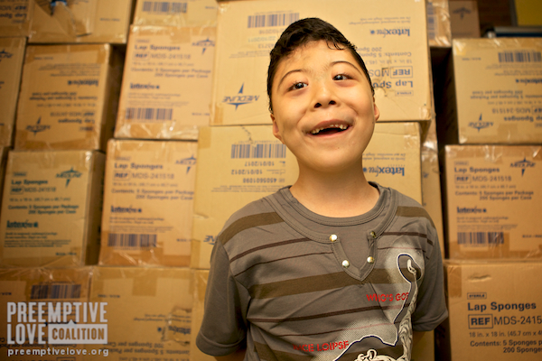 A photo of little Nassir 6 months after his lifesaving heart surgery in Najaf, Iraq.