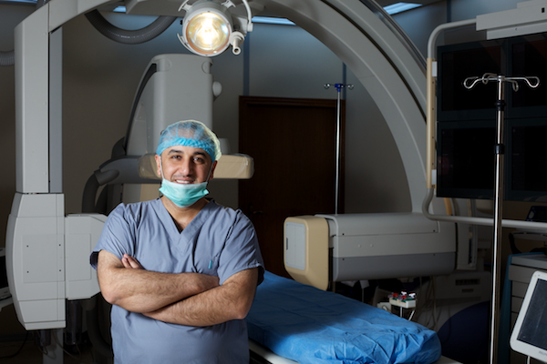 A photo of Dr. Firas al-Kubaisy in the cath lab at Fallujah General Hospital.