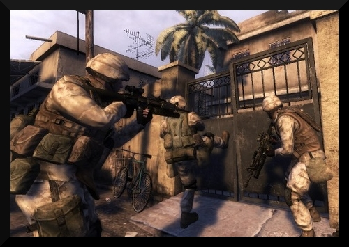 A screenshot from the game, Six Days In Fallujah.