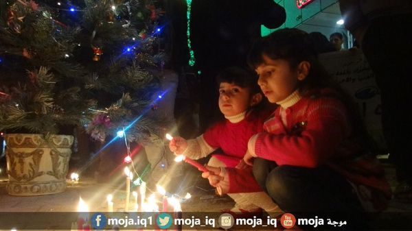 Iraqis celebrating Christmas in the Streets of Najaf.