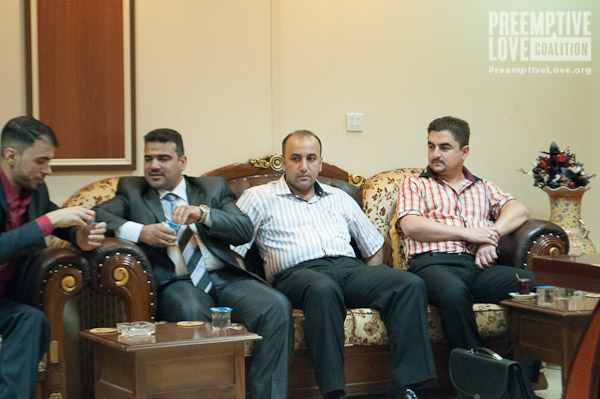 A photo of the meeting in Tikrit Teaching Hospital.