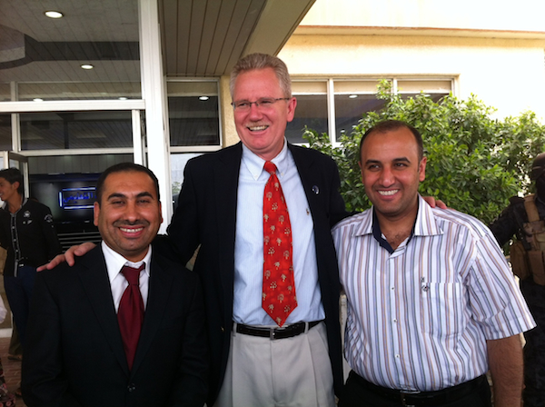 A photo of Dr. Mohammad, Dr. Kirk, and Dr. Firas.