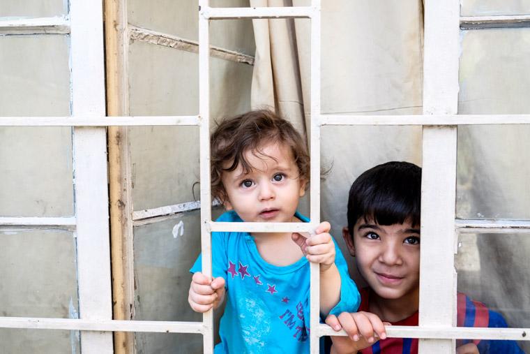 Yazidi children you're helping us serve in Baghdad
