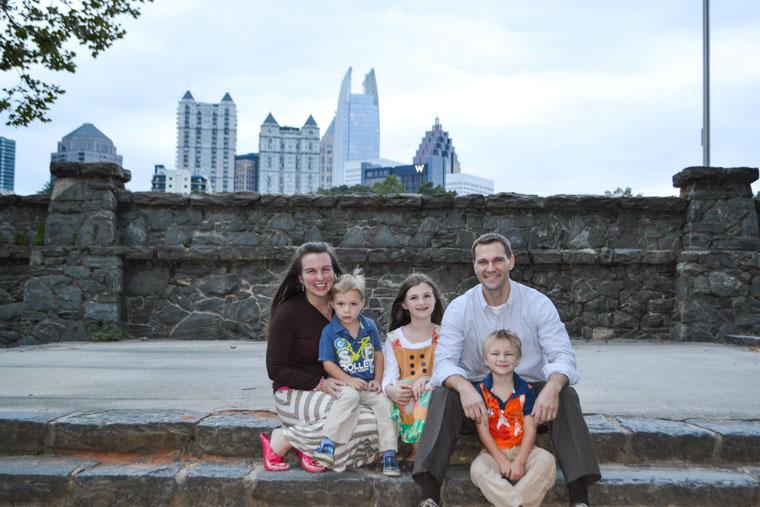 Jessica and her family in Atlanta