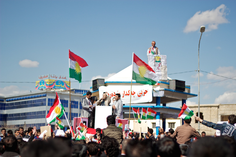 A Kurdish protest