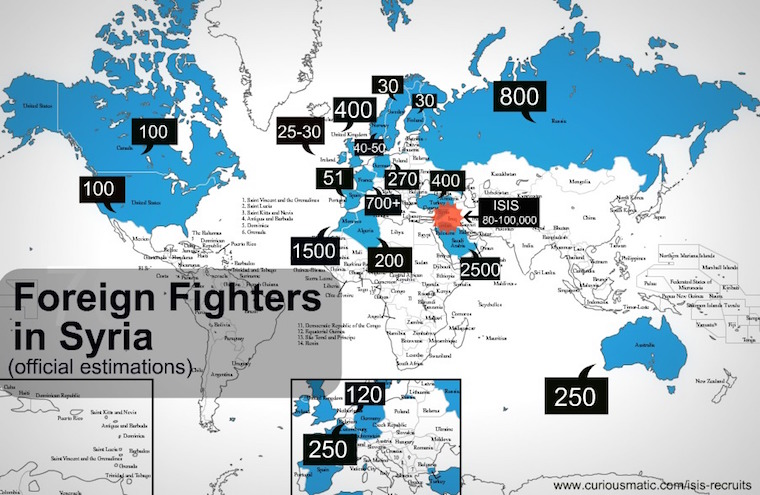 ISIS recruitment map