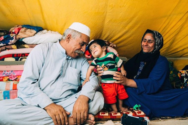 Majid with his wife and son, Ishaq