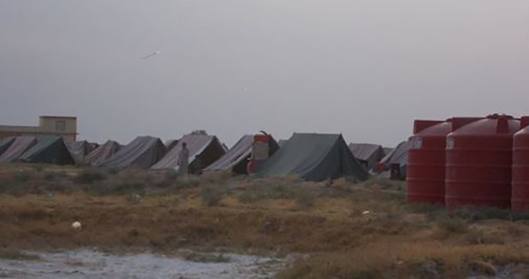Tents at the Bahari Taza displaced persons camp in Diyala.