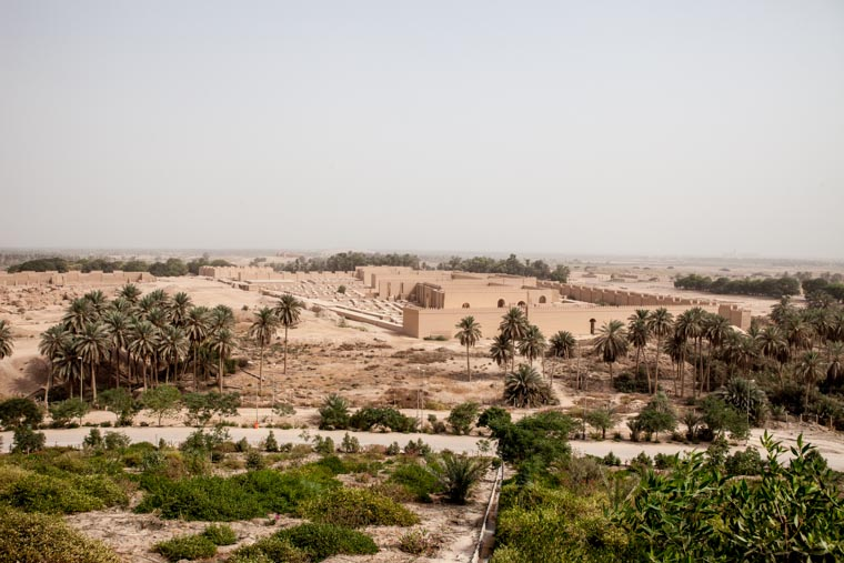 A view of the ancient city of Babylon