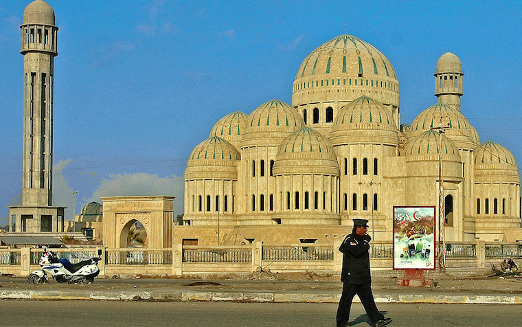 Mosul's most famous mosque located downtown